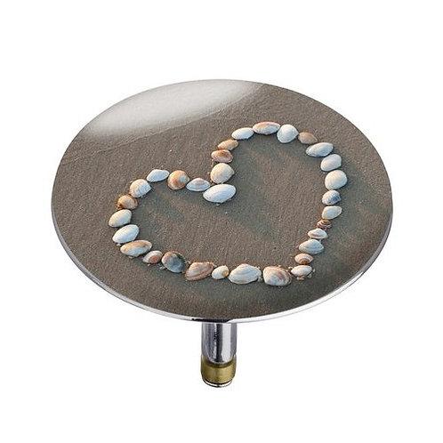 XXL Shell heart Стопер за вода за вана