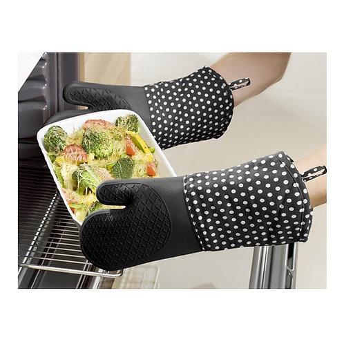 Термоустойчиви кухненски ръкавици от силикон, 2 бр