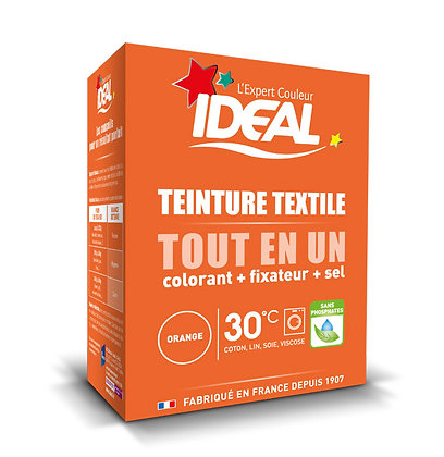 IDEAL MINI «Все в Одном» для окрашивания одежды и тканей, оранжевая, 230 г.