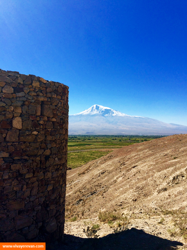 Вид на Арарат от монастыря Хор-Вирап