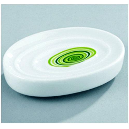 Wenko Поставка за сапун със зелени кръгове