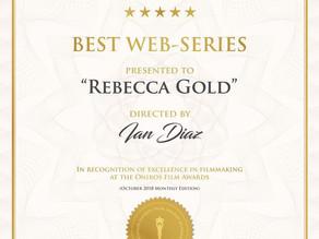 Rebecca Gold wins best web series