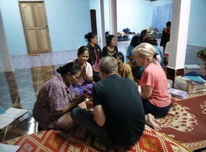 Facebook - Three new ladies prayed to receive Jesus and were baptized last night
