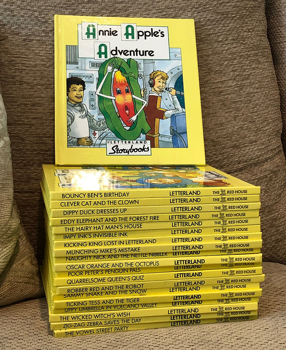 The whole collection of the Letterland Storybooks starting with Annie Apple's Adventure