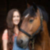Author Lois Kingscott and her horse Dave