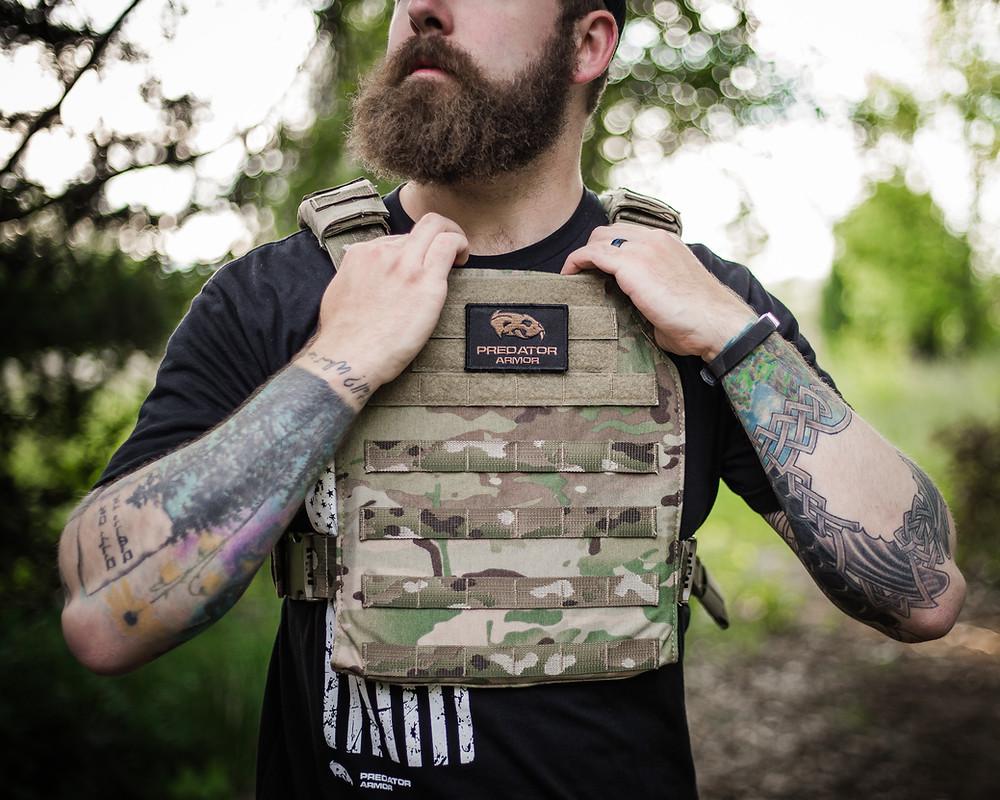 Guy Wearing Body Armor