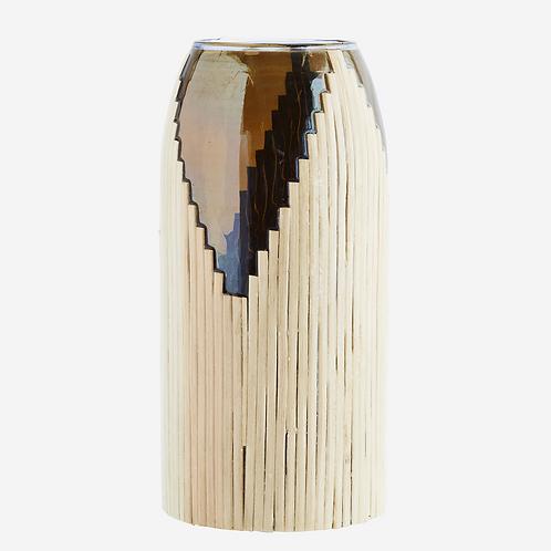 Vase Fumé imitation cane naturelle