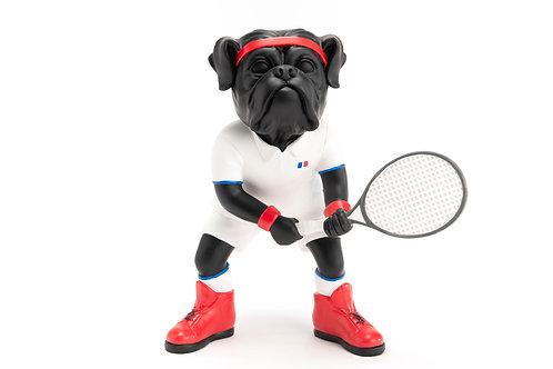 Chien tennis man