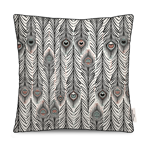 COUSSIN CARRE OUTDOOR PLUME PAON