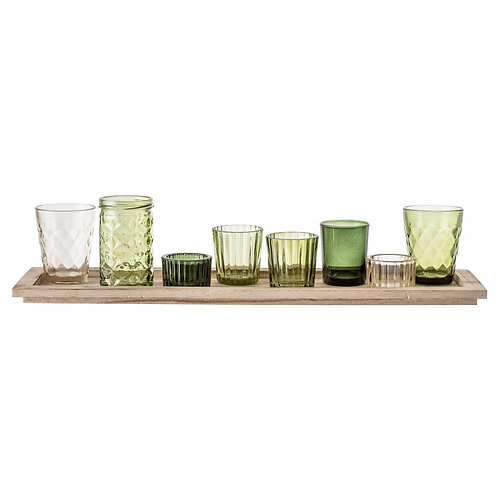 set de verres, vert