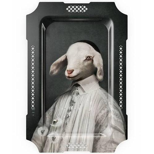 Plateau mural L'agneau des fables