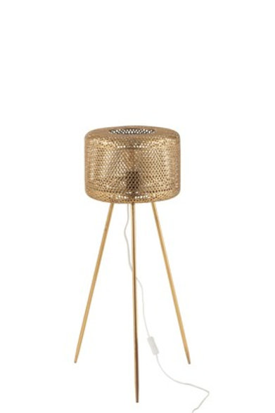Lampe Trepied Haute Metal Or Small