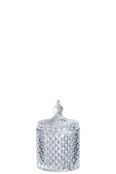 Bonbonnière Taille Cylindrique Verre Transparent Small