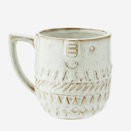 tasse stoneware visage