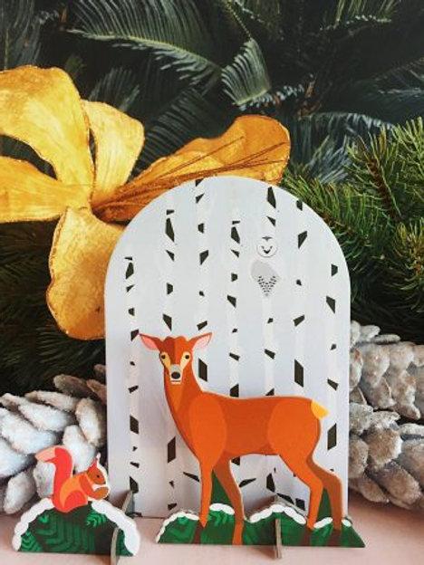 Pop out cards Winterfale Deer