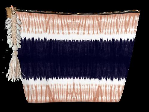 Pochette médium épongeTye and Dye horizontal bleu marine