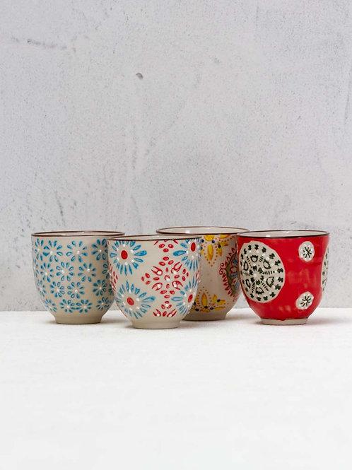 Set de 4 tasses expresso Bohemian