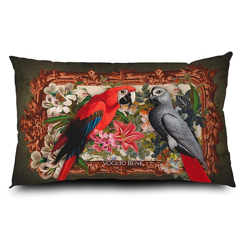 Coussin Perroquets