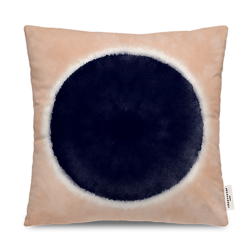 COUSSIN CARRE OUTDOOR ROND BLEU MARINE