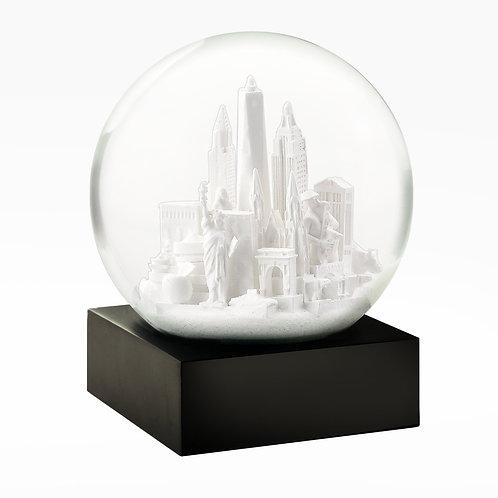 NYC city White snow globe