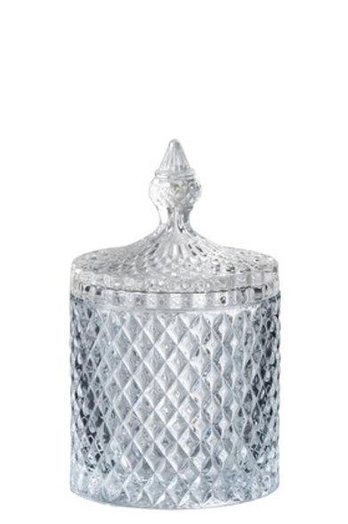 Bonbonnière Taille Cylindrique Verre Transparent Large
