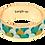Thumbnail: Bracelet à fermoir en laiton doré imprimé émaillé