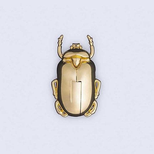 Insecte tire bouchon irisé or