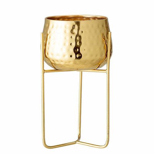 Pot à fleurs métal doré