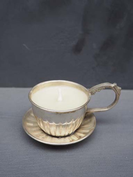 Petite tasse Bougie  métal