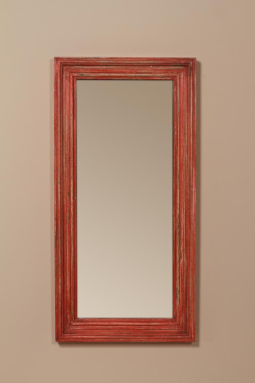 Grand miroir patine rouge