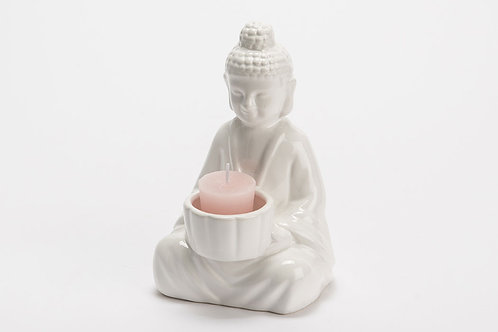 Porte bougie Bouddha céramique