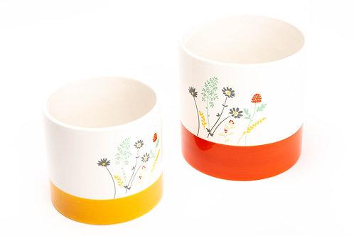 Set de  2 Caches Pot fleurs