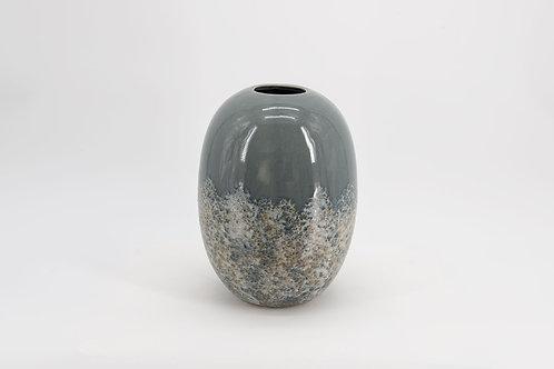 Vase lumiere givree gris