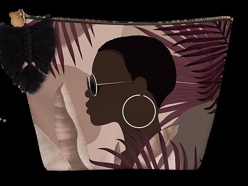 Pochette small éponge Profil Femme à la Boucle d'oreille