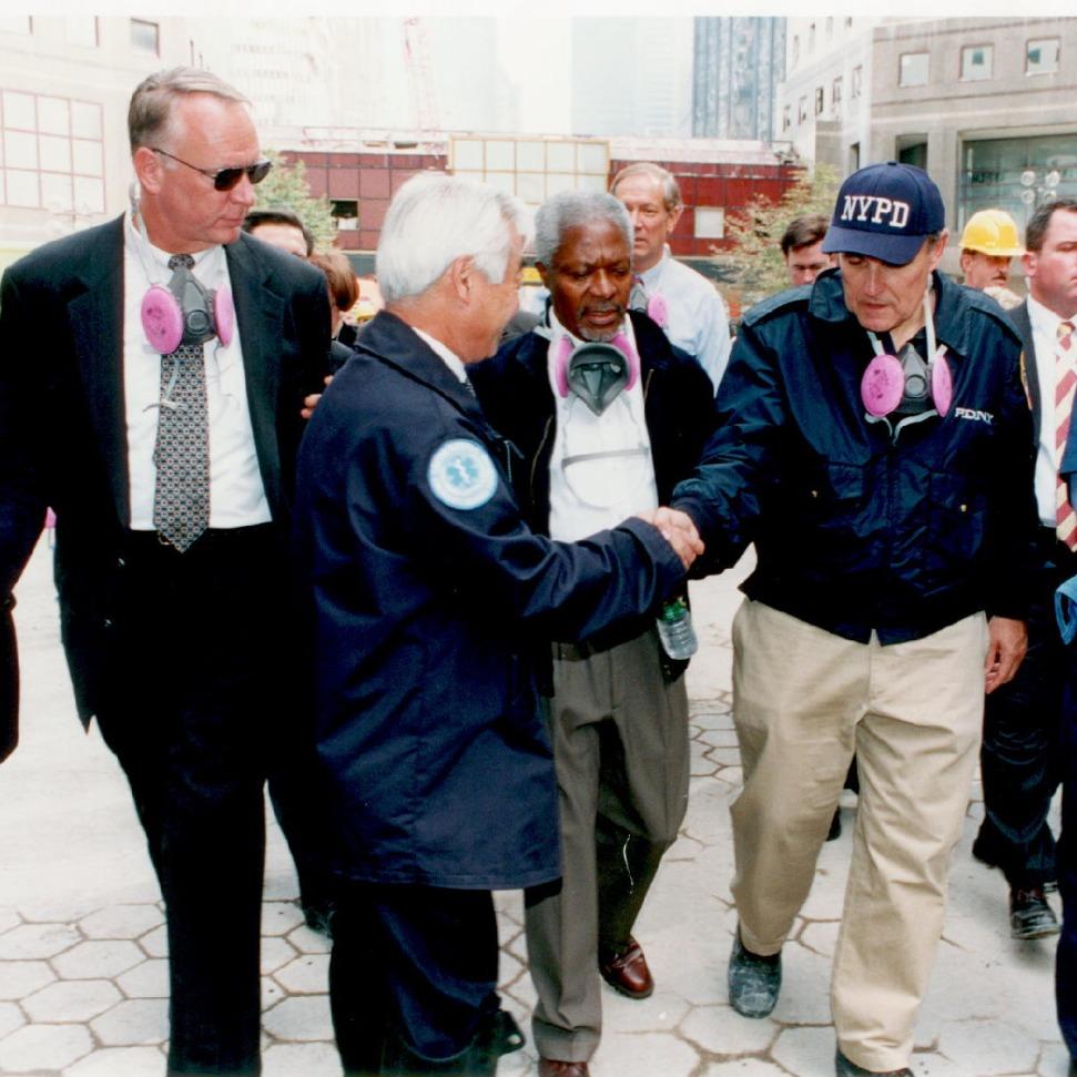 UN Koffi and Mayor Giuliani