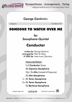 Someone to watch over me • Saxophon-Quintett