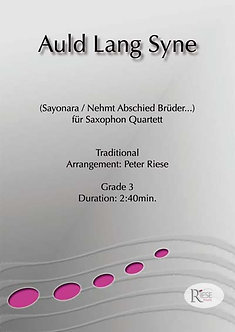 Auld Lang Syne • Saxophon-Quartett