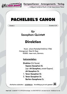Pachelbel's Canon • Saxophon-Quintett
