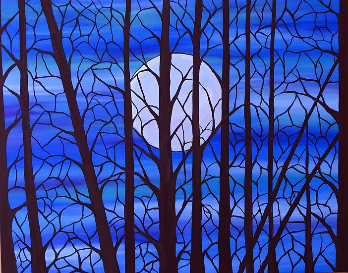The Glass trees in Moonlight