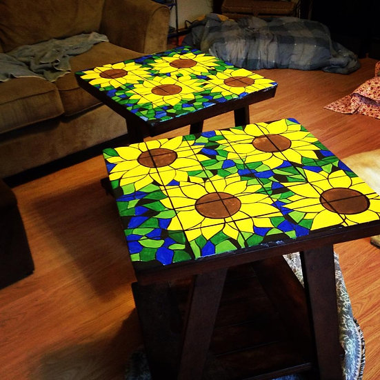 Sunflower End tables