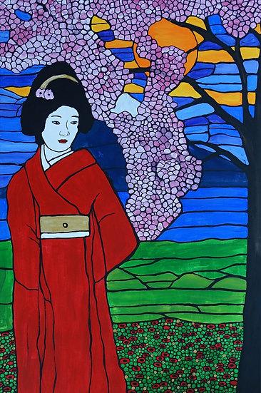 Geisha in her garden