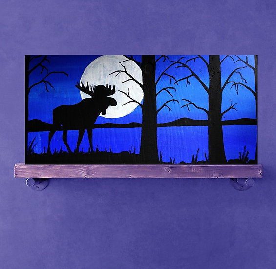 Cobalt blue moose