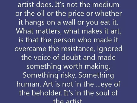 Art Quote of the day