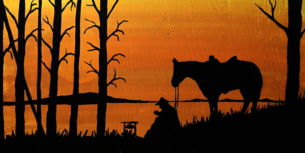Lone Cowboy and his horse