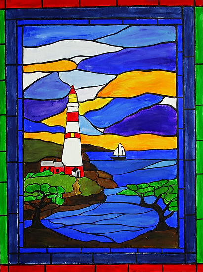 Light house mosaic