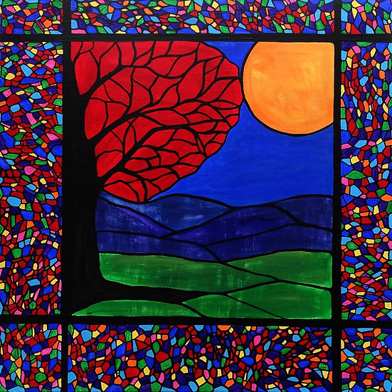 Red Tree Mosaic