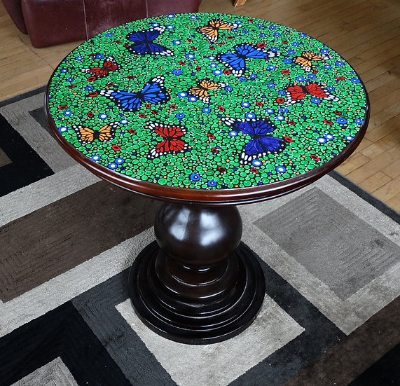 Butterfly Table on refurbished round table