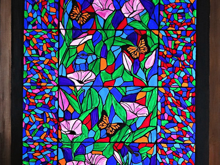 It looks like stained glass!