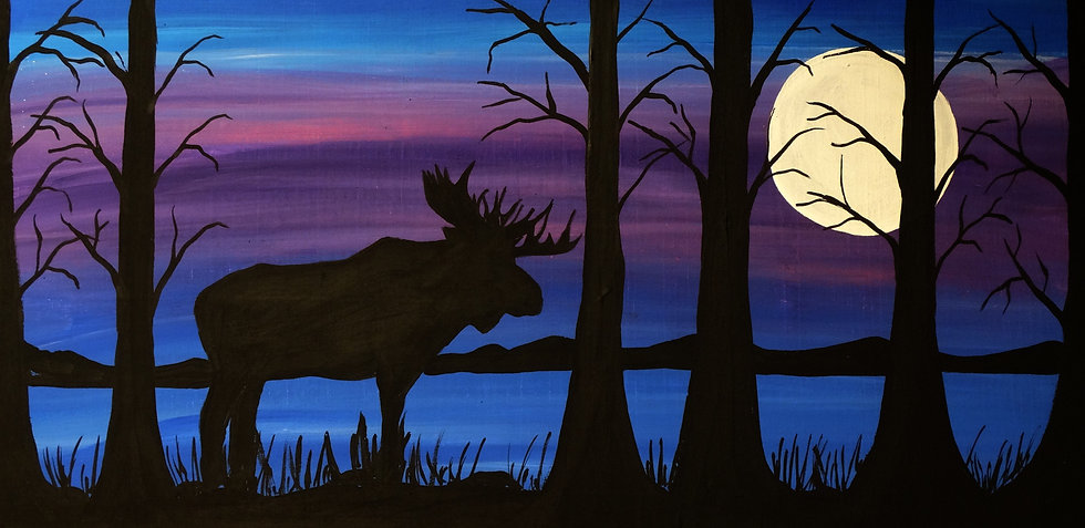 Silhouette Moose