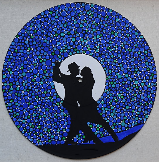 The magic in us, acrylics on vinyl record